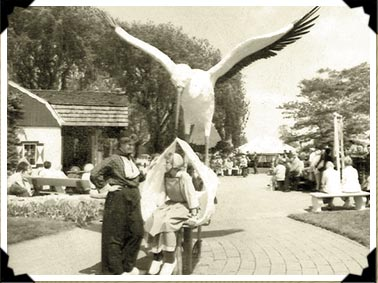 The birthday stork at Dutch Village in Western Michigan