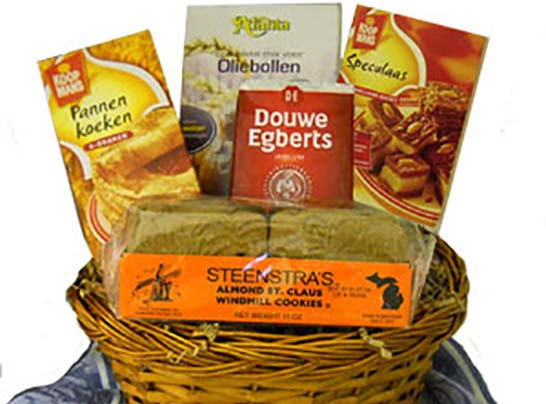 gift baskets at Nelis Dutch Village in Holland, Michigan
