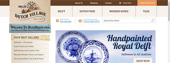 Dutch Village Blue Delft Web Site