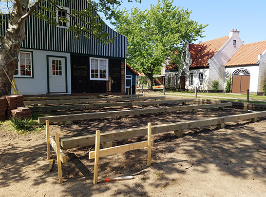 Dutch Village builds a deck for events