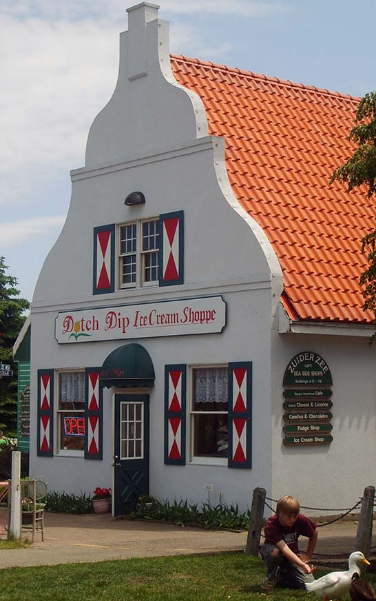 Ice Cream Shoppe at Dutch Village in Holland Michigan