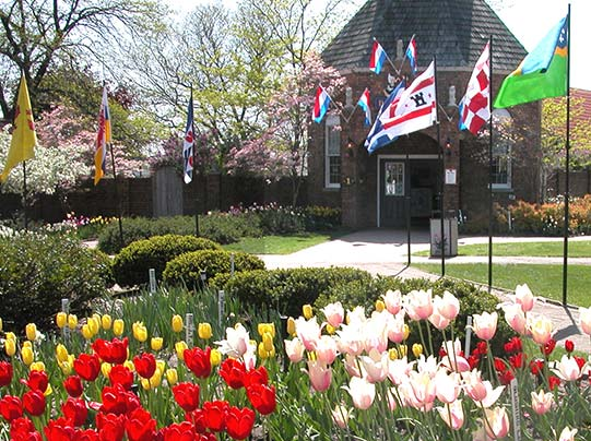 front entrance at Dutch Village in Holland, Michigan