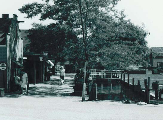 Holland Dutch Village canal in 1950s