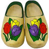 Painted wooden shoes from Dutch Village